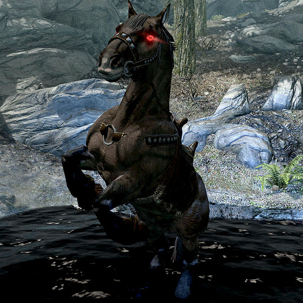 Skyrim Getting The Best Horse Shadowmere Out Of Based On