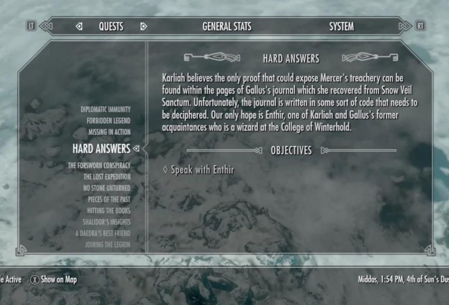 Skyrim Sidequest Hard Answers