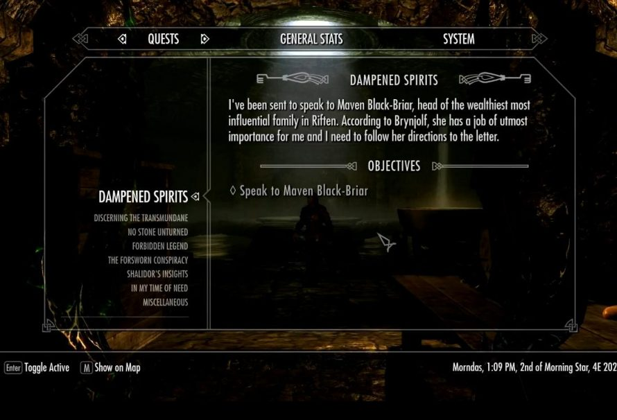 Skyrim Sidequest Dampened Spirits