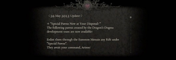 Dragon's Dogma Dev Team's Special Pawns Are Now Recruitable