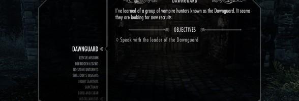 Skyrim Dawnguard DLC – How to Initiate the Dawnguard Quest