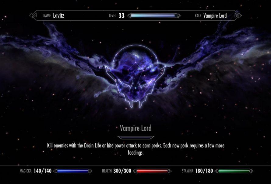 Skyrim Dawnguard DLC – Full Vampire Lord Perks List