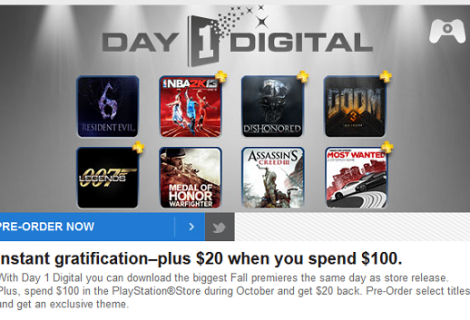 Spend $100 on the PSN Store and Get $20 Back