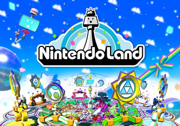 """Iwata diz """"Nós simplesmente não ligamos para o que outras empresas estão fazendo"""" Nintendo_land_logo"""