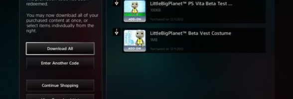 Check your PSN Account for your LittleBigPlanet Karting Beta Rewards