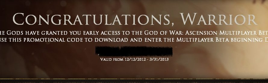 God of War: Ascension Beta Codes Being Sent Out Now