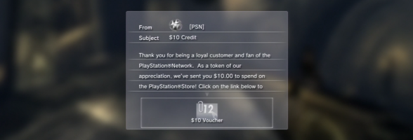 "Sony is Rewarding ""Loyal"" Supporters with a Free $10 PSN Voucher"