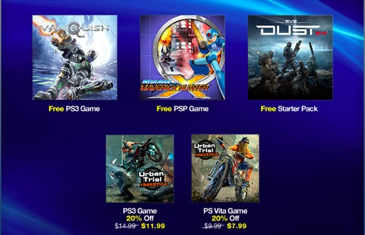 Vanquish & Mega Man Hunter X Free on PS Plus this week