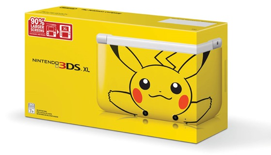 Yellow Pikachu 3DS XL Announced for the US