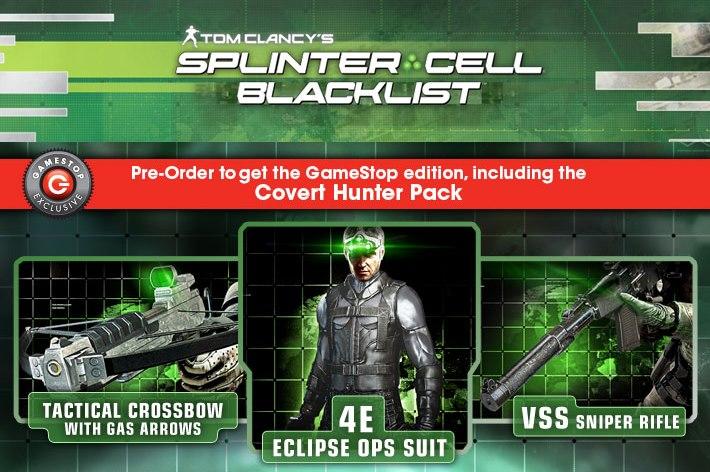 Gamestop Announces Exclusive Splinter Cell Blacklist Pre-Order Bonuses