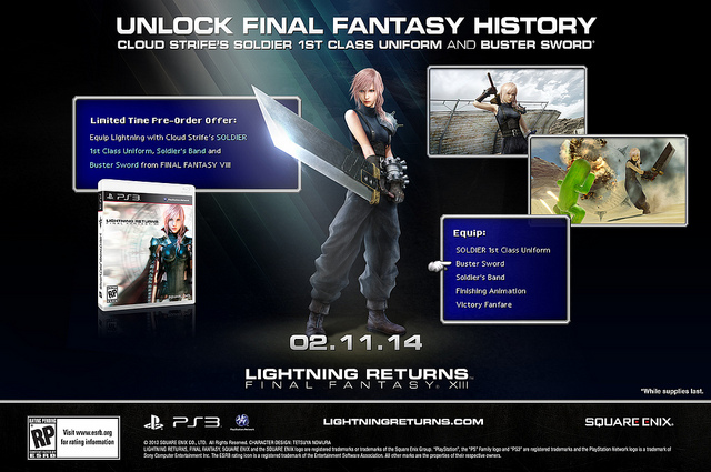 Get Final Fantasy VII DLC With Lightning Returns: Final Fantasy XIII Pre-Order