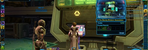 SWTOR Game Update 2.3 Bounty Contract Event – Ord Mantell Preview