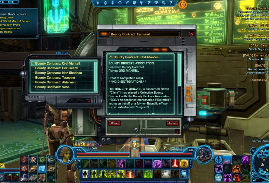 SWTOR Bounty Contract Event starts today