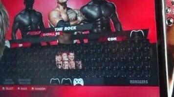 WWE 2K14 Roster Menu
