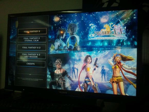 Final Fantasy X and Final Fantasy X-2 HD Menu Screenshots