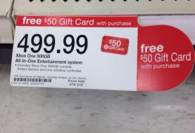 Target Is Offering A $50 Gift Card With Purchase Of Xbox One