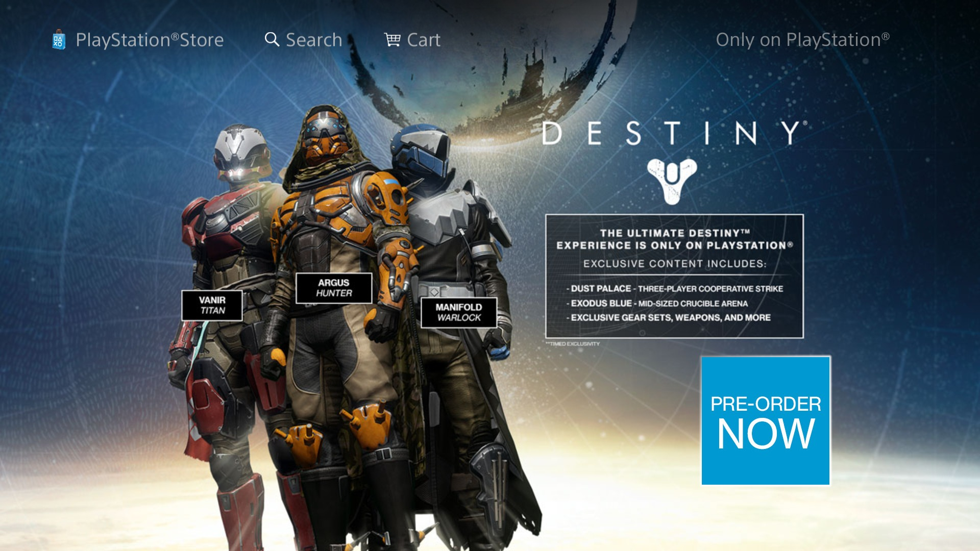 Just push start destiny s playstation exclusives will eventually