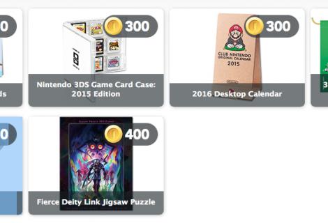 Nintendo Discounts Various Physical Club Nintendo Items