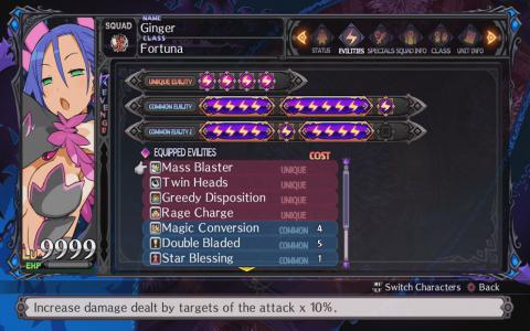 Disgaea 5 Unique Evility Slots