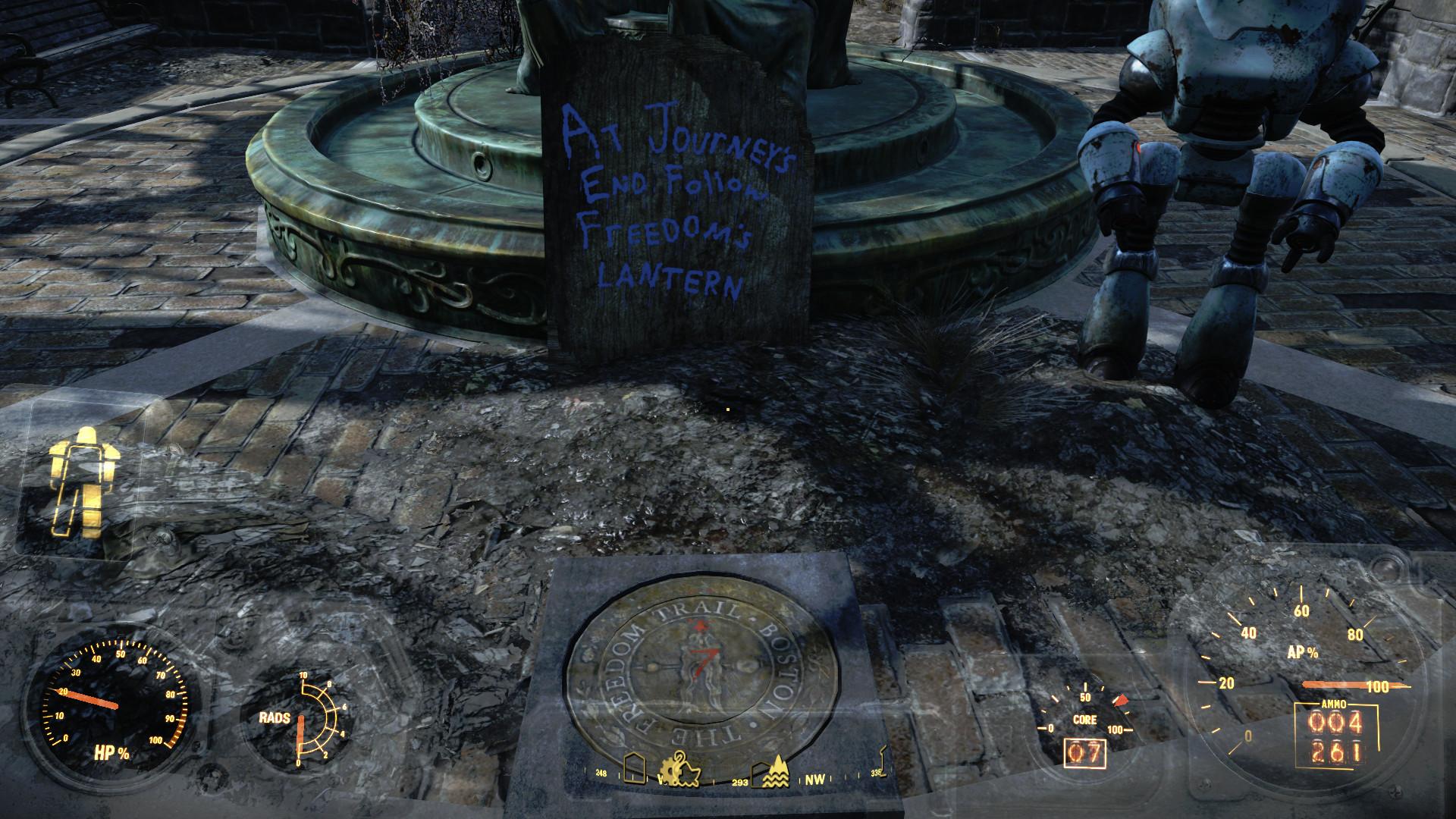 Boston Common. Fallout 4 Railroad 02