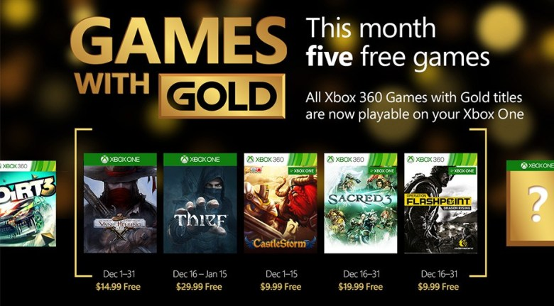 xbox one december 2015 games with gold