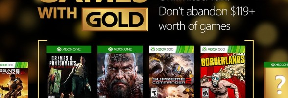 Xbox Live Games with Gold for March 2016 revealed