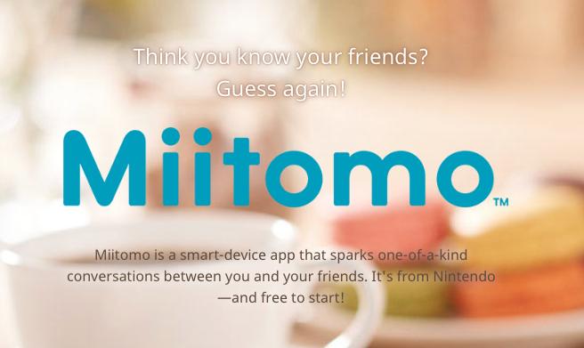 Miitomo Open for Preregistration; Nintendo Account Now Available