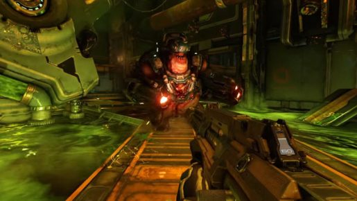 Doom for Nintendo Switch compared to Sony's PlayStation 4