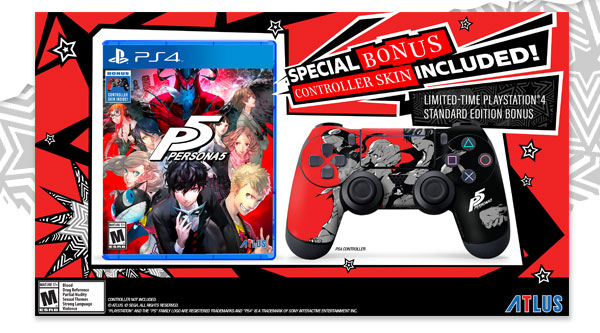 Atlus Is Including A Persona 5 Controller Skin With Standard Edition