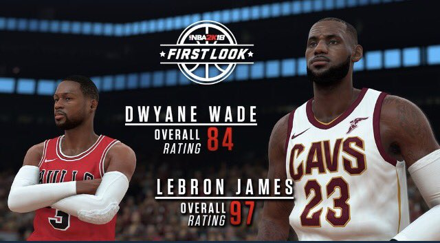 LeBron James And Dwyane Wade's NBA 2K18 Player Ratings Revealed