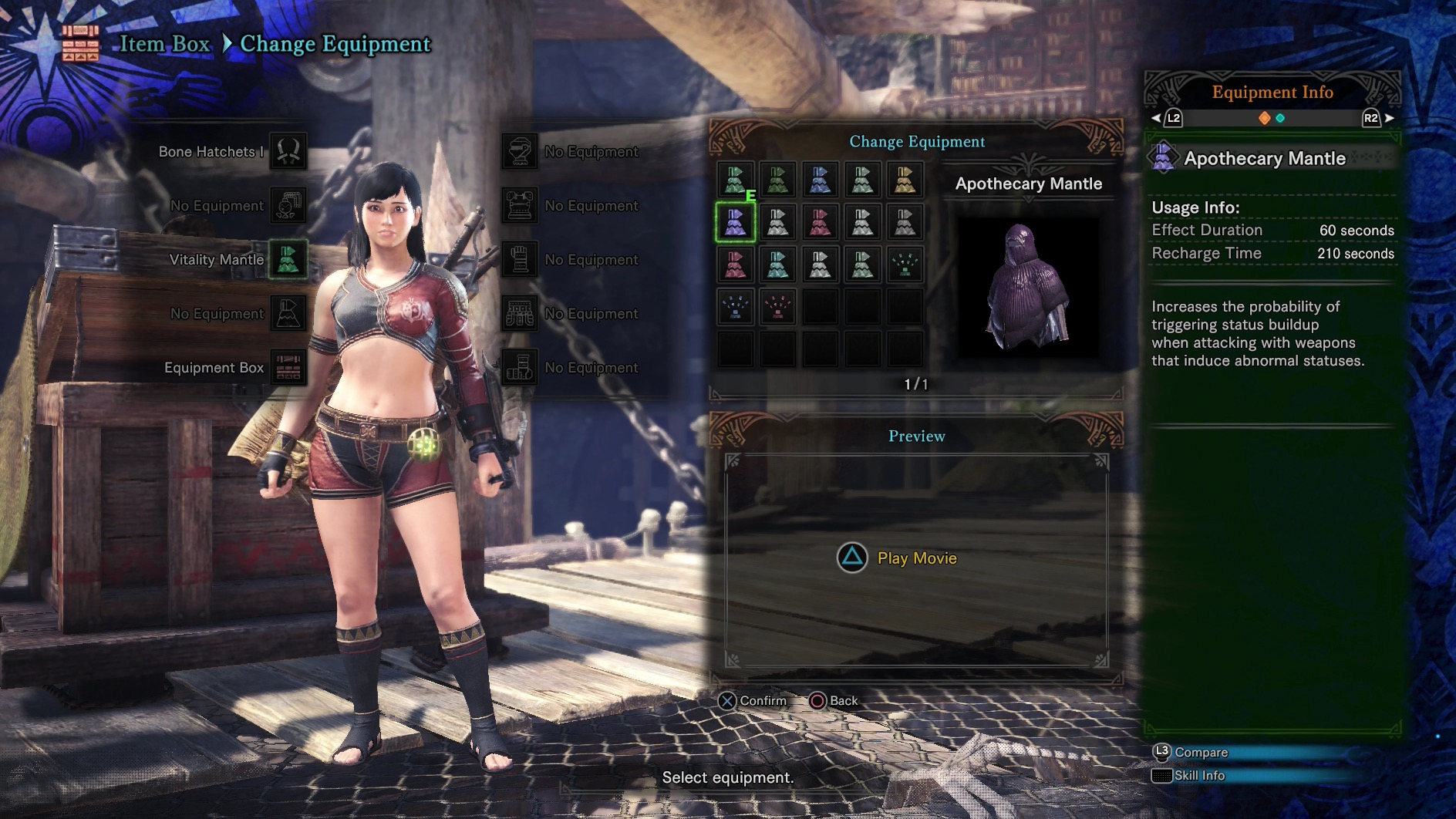 Monster hunter world mantle booster and pigment unlock for Portent mission