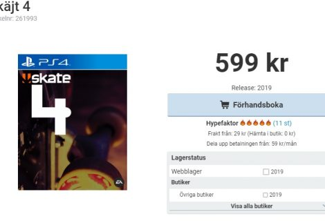 Rumor: Retailer In Sweden Lists Skate 4 On PS4 And Xbox One