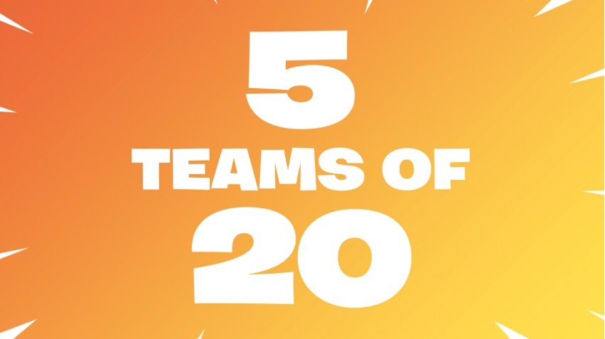 Fortnite Is Soon Going To Add A Five Team Mode Consisting Of 20 Players Each
