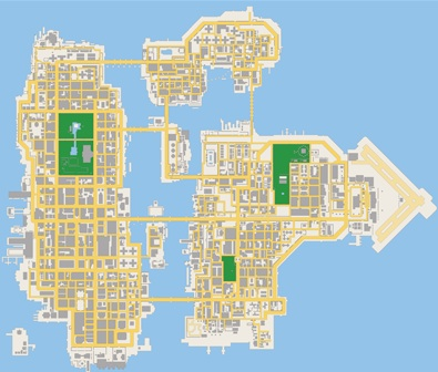 Grand Theft Auto: Chinatown Wars Map