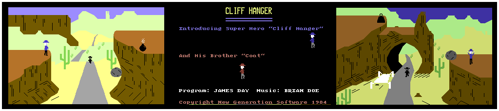 Cliff Hanger C64 Screen Shots
