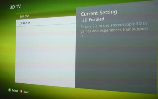 Xbox 360 Getting Full Stereoscopic 3D Update Soon