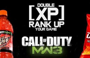 Modern Warfare 3 Double XP Promotion by Mountain Dew Detailed