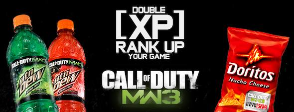 modern warfare 3 double xp promotion by mountain dew detailed just