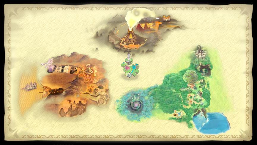 Is This the Legend of Zelda: Skyward Sword Map?