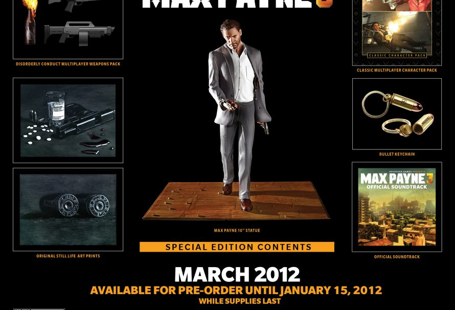 Max Payne 3 Special Edition Announced Just Push Start