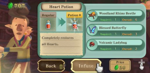Skyward Sword - Complete Potion Upgrade Guide - Just Push Start