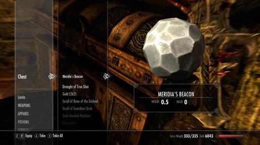 Skyrim - Meridia & the Gleaming Dawnbreaker Sword (Daedra Artifact
