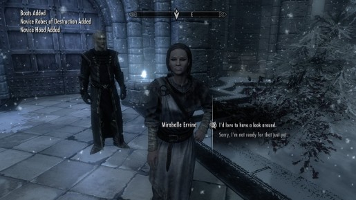 Skyrim - Enrolling in the College of Winterhold & Its