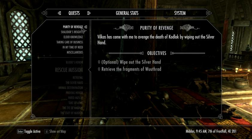 Skyrim Sidequest – Purity of Revenge