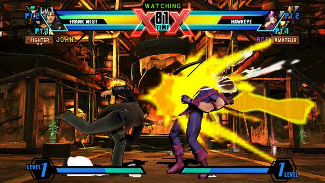 Ultimate Marvel vs. Capcom 3 PS Vita Touch Screen Controls