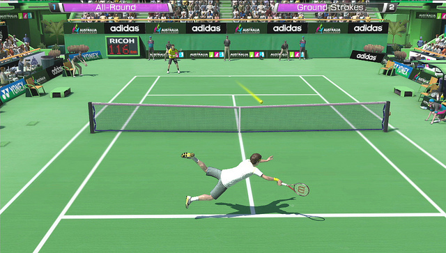 Virtua Tennis 4 PS Vita Gameplay