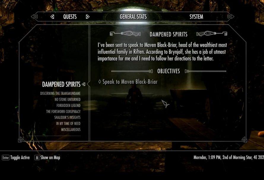 Skyrim Sidequest - Dampened Spirits - Just Push Start