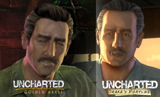 Uncharted Golden Abyss Drake S Fortune Graphics Comparison
