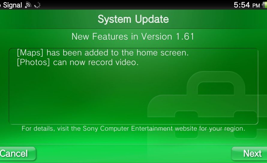 Playstation vita 1. 61 firmware now available for download just.