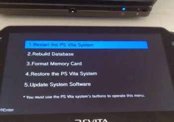 How To Get Your PlayStation Vita in Recovery Mode
